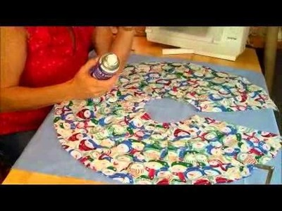 Christmas tree skirt tutorial by Debbie Shore
