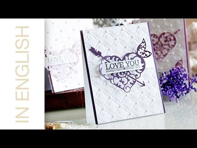 Elegant Valentines Day Cards (Using Spellbinders and Avery Elle)