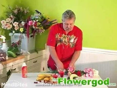 Flower Arrangement: Materials for an Ice Cream Sundae Floral Design