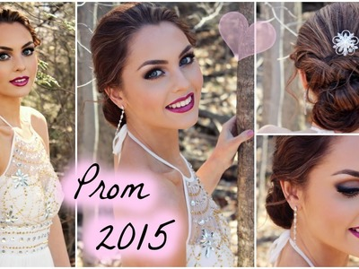 Get Ready With Me for Prom 2015! Soft Smokey Eyes & Easy Updo - Jackie Wyers