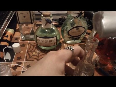 Halloween Project 3:How to make Halloween Potion Bottles
