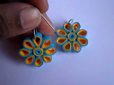 Handmade Jewelry - Paper Quilling Earrings (Dimond Shape Petals)