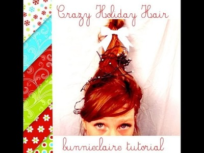 Holiday hair! How to make water bottle crazy hair!