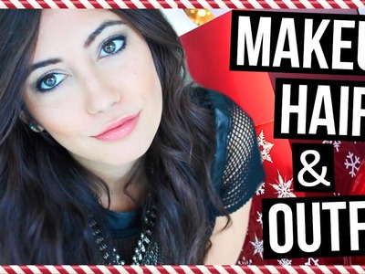 HOLIDAY Makeup, Hair & Outfit Ideas!