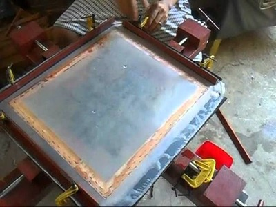 Homemade diy silkscreen stretcher 1