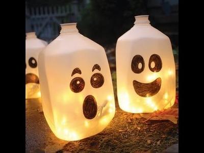 Homemade Halloween Decorations (Ghost lanterns)