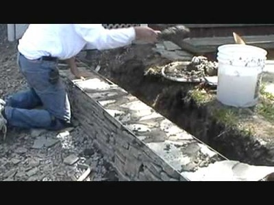 How I build a small stone wall. (Part 1 of 4) Mike Haduck,
