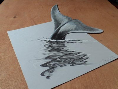 How I Draw a 3D Blue Whale