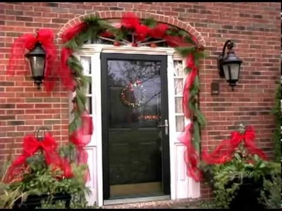 How to Decorate your Front Door and Flowers Pot for Christmas.