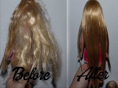 How to fix messy Barbie hair. straight hair? - Tutorial