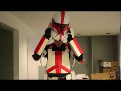 How to Make a cardboard clone trooper costume PART 1 !!!!!