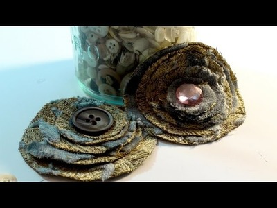 How To Make a Quick and Easy No Sew Fabric Flower