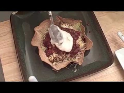 How to Make A Taco Salad Bowl Shell For Taco Salad (part 2)