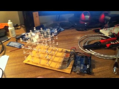 How to make an LED 4x4x4 cube with Arduino Uno