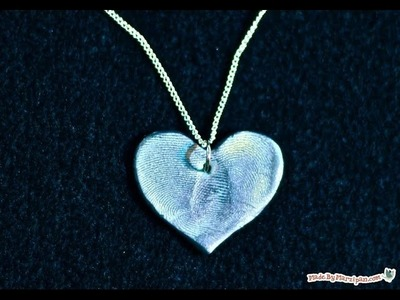 How To Make Clay Fingerprint Jewelry