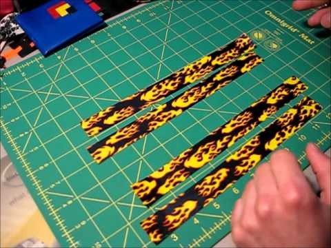 How to make Duct tape key chain dangles and tape lanyards