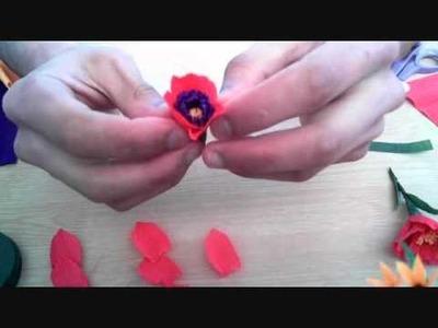 How to make paper flower poppy