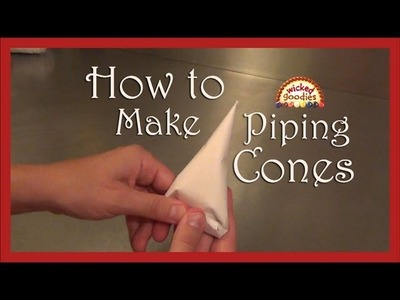 How to Make Parchment Paper Cones for Cake Writing & Decorating by Wicked Goodies