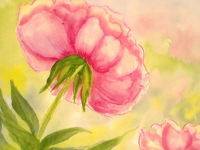 How To Paint a Peony Flower in Watercolors {Easy Tutorial}