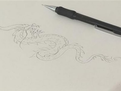 How To Sketch A Chinese Dragon Drawing