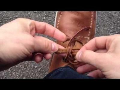 How to tie leather laces. Comment lacer les lacets en cuir