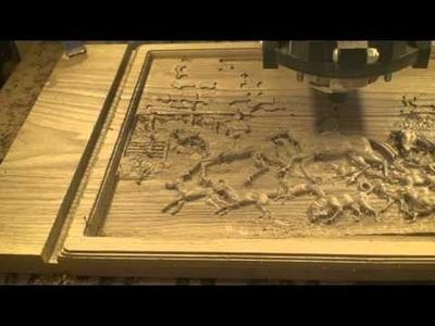 Hunt Scene - CNC Carving