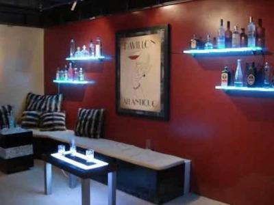 LED Wall Mounted Bar Shelf - Bar Display
