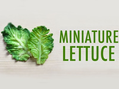 LETTUCE LEAF: polymer clay tutorial