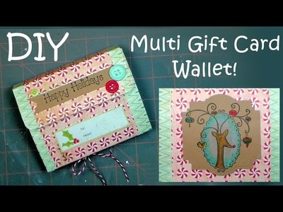 Multi Gift Card Wallet & Reindeer Coloring Tutorial {By Request!}