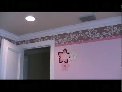 Mural Baby Girl Theme Room with Butterfly Wall Decor in South Florida