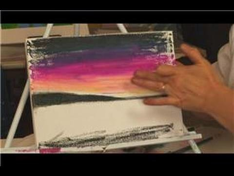 Oil Pastel Techniques : Using Pastels on Canvas