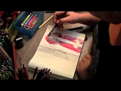 Painting Gel Transfer in Art Journal with Jane Davenport | Artomologist