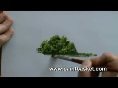 Painting lessons - How to paint trees and bushes in oil painting
