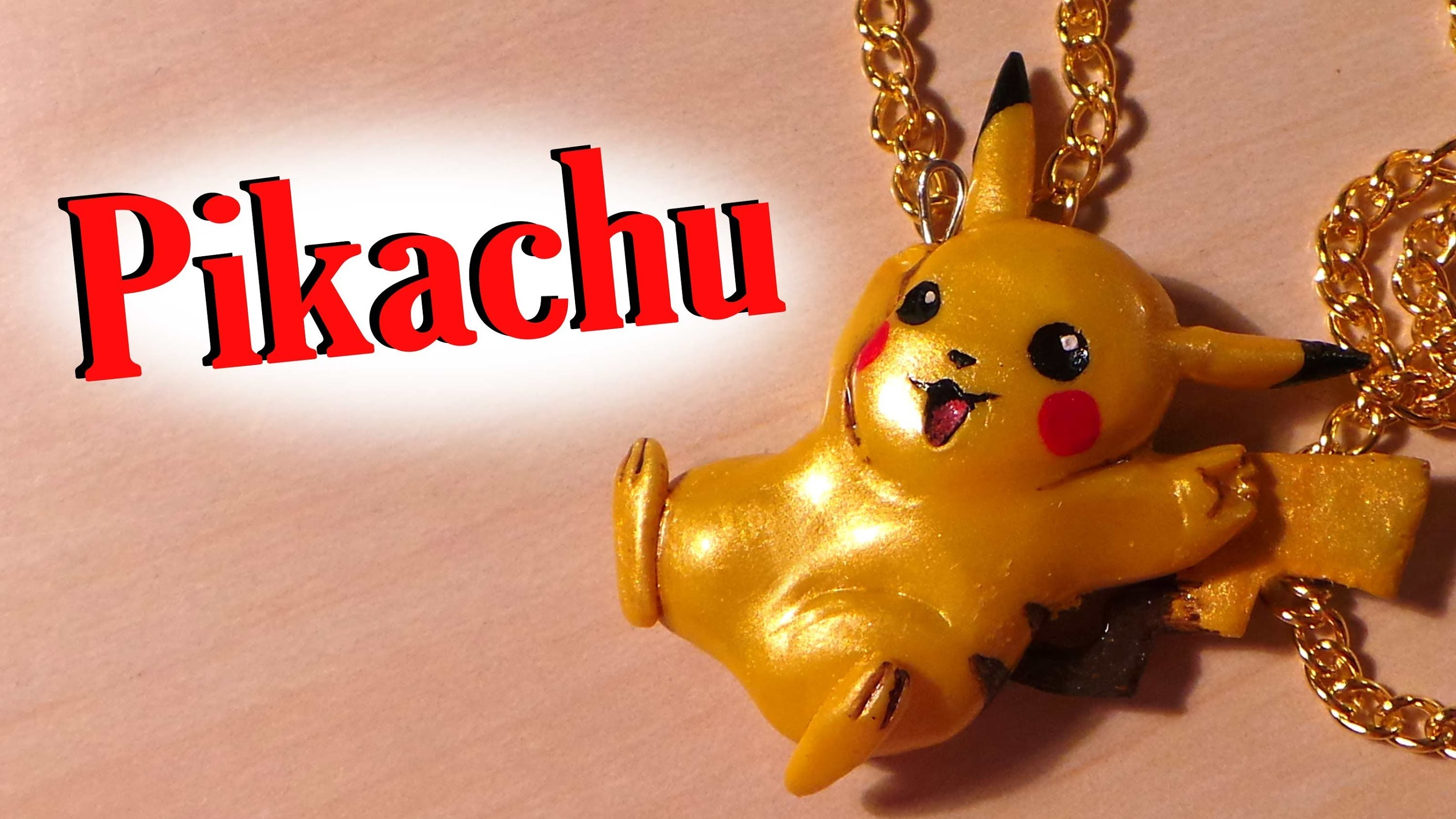 Pokemon; Pikachu Charm - Polymer Clay Tutorial