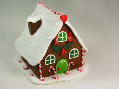 Polymer clay Gingerbread House TUTORIAL (collab video)