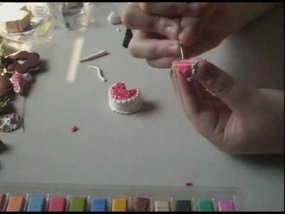 Polymer Clay Tutorial- Triple Layer Strawberry Cake