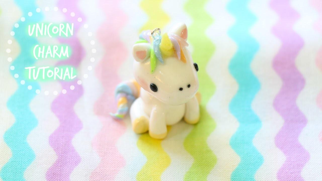 Polymer Clay Unicorn Charm Tutorial