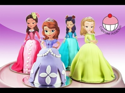 PRINCESS CUPCAKES - Make Sofia the First Mini Disney Cakes with Cupcake Addiction