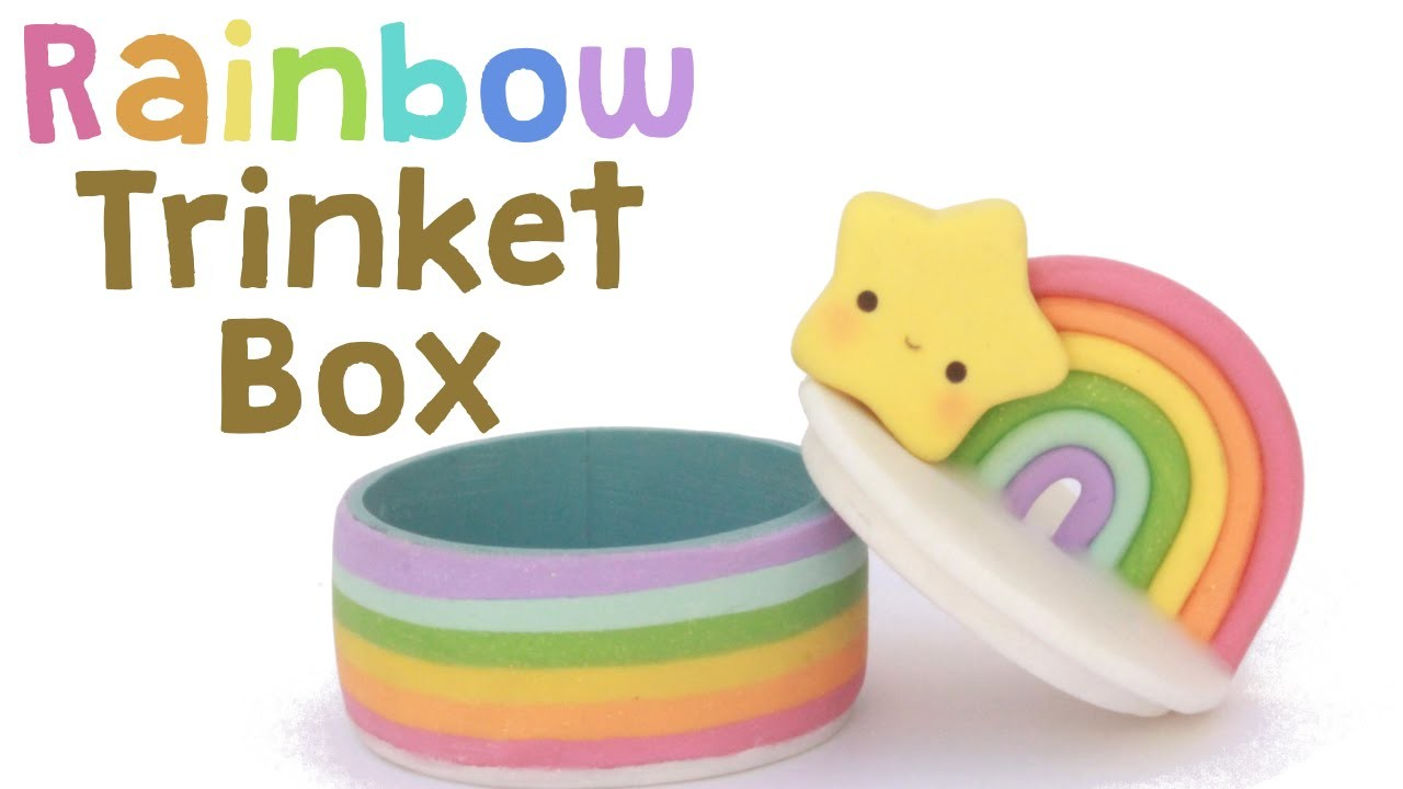 Rainbow Polymer Clay Trinket Box | Collab with Maqaroon