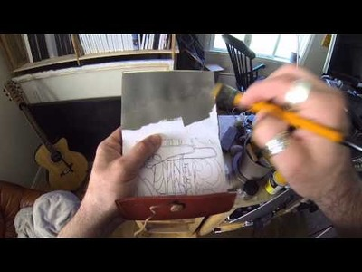 Recycling Old Sketch Books - Acrylic Painting Tips
