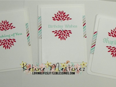 Stampin' Up Sale-A-Bration Petal Parade Thank You Cards