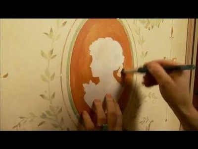 Stencils: How to Stencil with a Brush. Elegant Multi-Color French Panel.