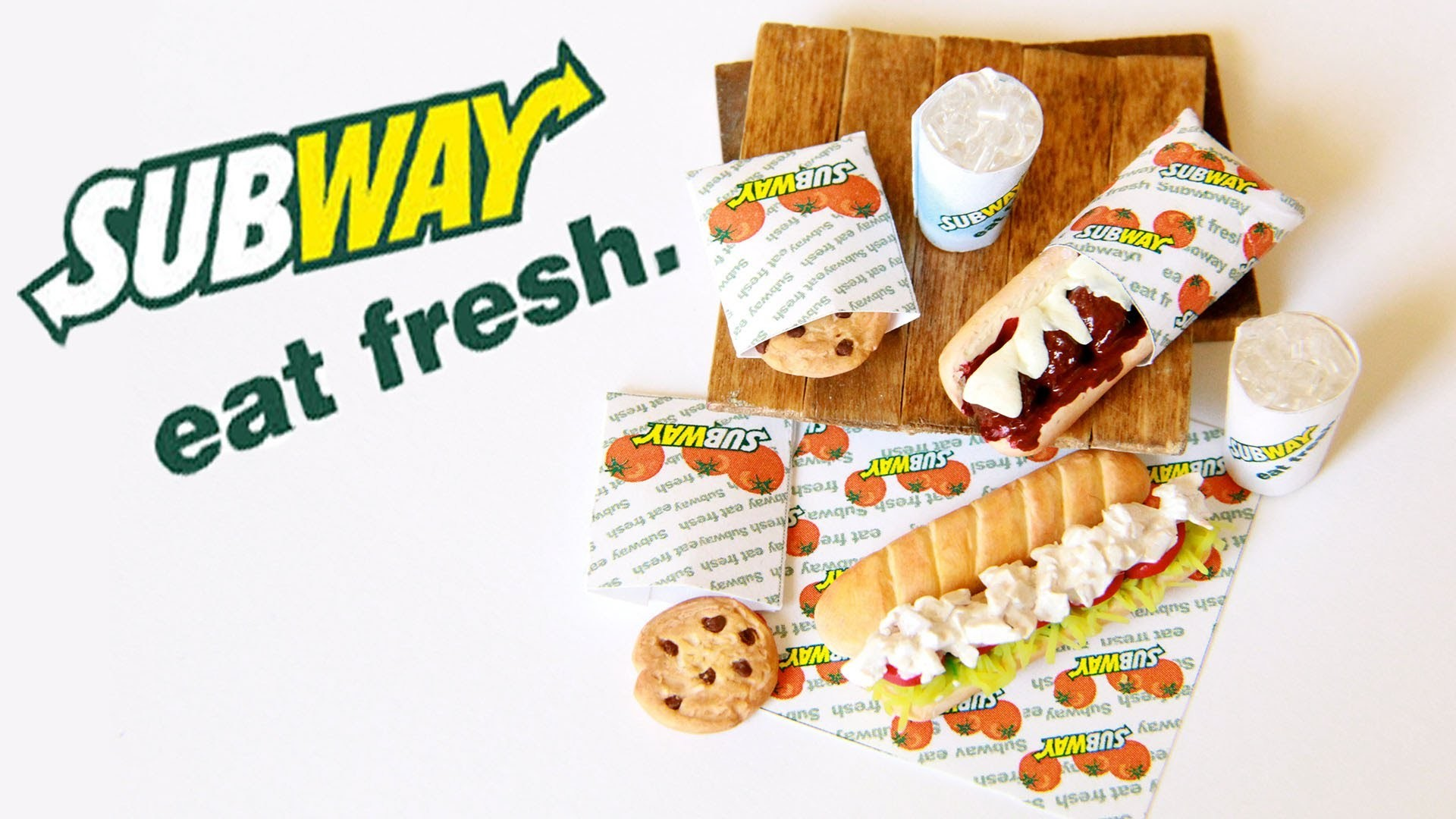 Subway Sandwiches : How To Make Sub Sandwiches, Cookies, and Drinks with Polymer Clay