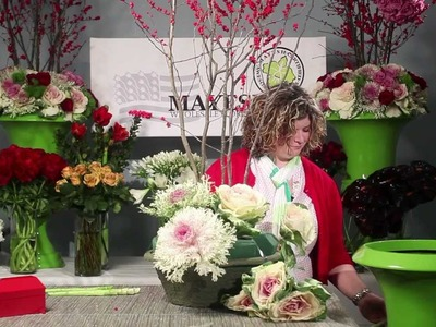 The Art of Flowers December 2012: Holiday Floral & Ilex Arrangements