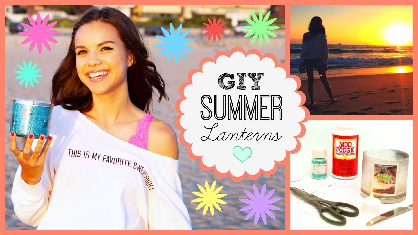 Upcycle Your Used Candles! ☆ GIY Summer Star Lanterns