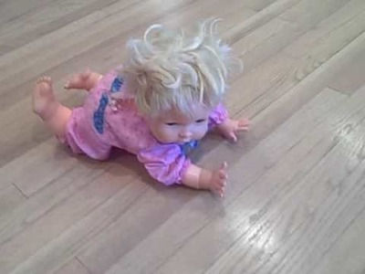 Vintage OOPSIE baby doll Crawls,Cries, calls for Mama