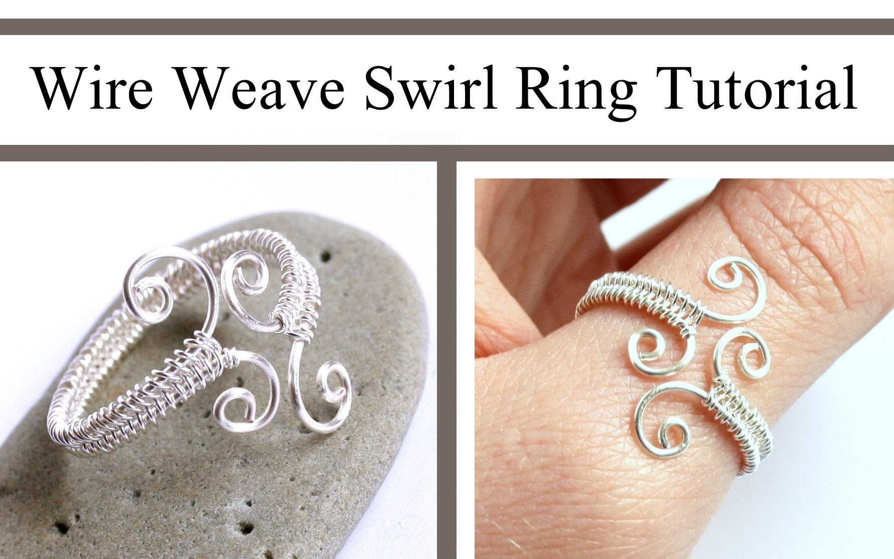 Wire Weaving Jewelry Tutorial : Adjustable Swirl Ring : Wire Wrapped