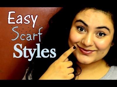 4 Easy Scarf Styles {Delhi Fashion Blogger}