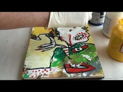 7 Minute Abstract Figurative Painting