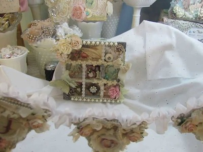 Altered Shadow Box and Sweet Little Shabby Chic Banner